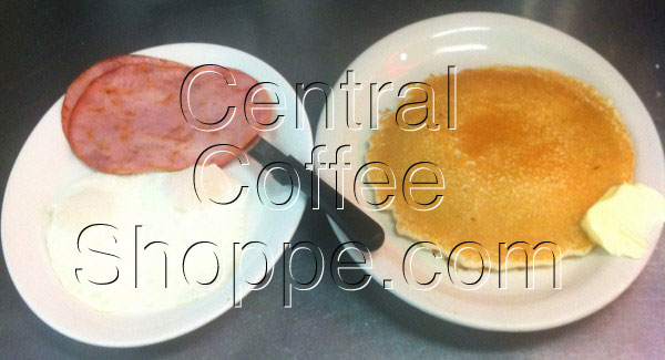 central-coffee-shoppe-st-petersburg-fl-breakfast-pancake-specials-with-2-eggs-and-ham